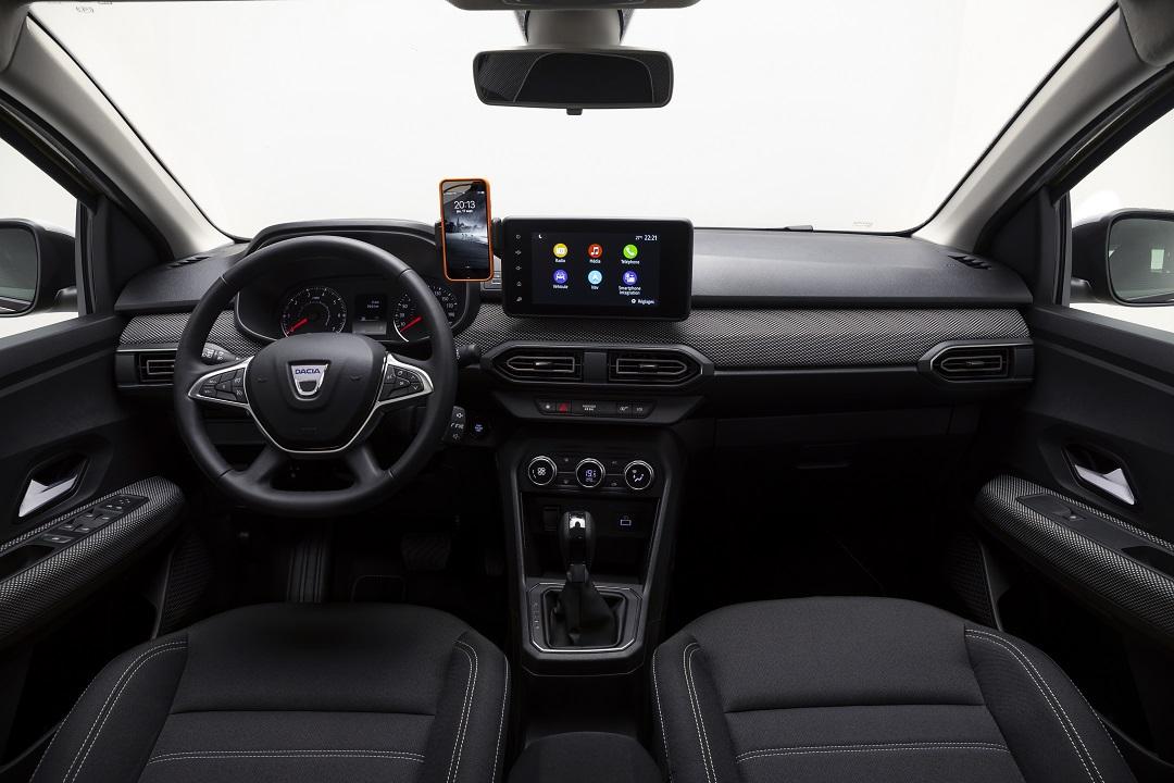 Dacia Sandero con schermo infotainment