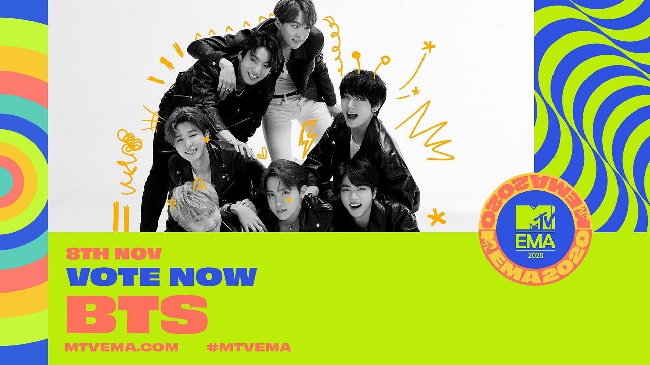 MTV EMA 2020 BTS