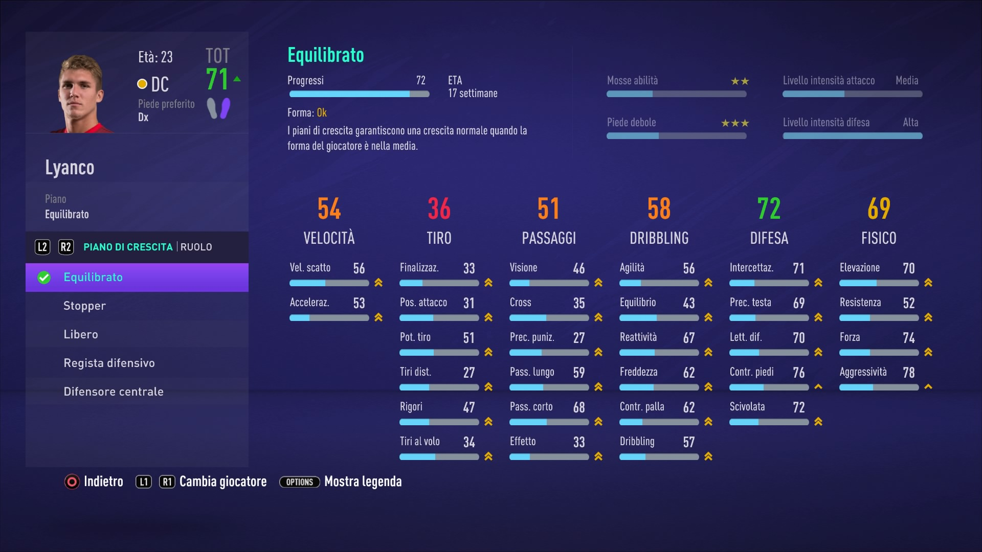 FIFA 21 Crescita giocatore