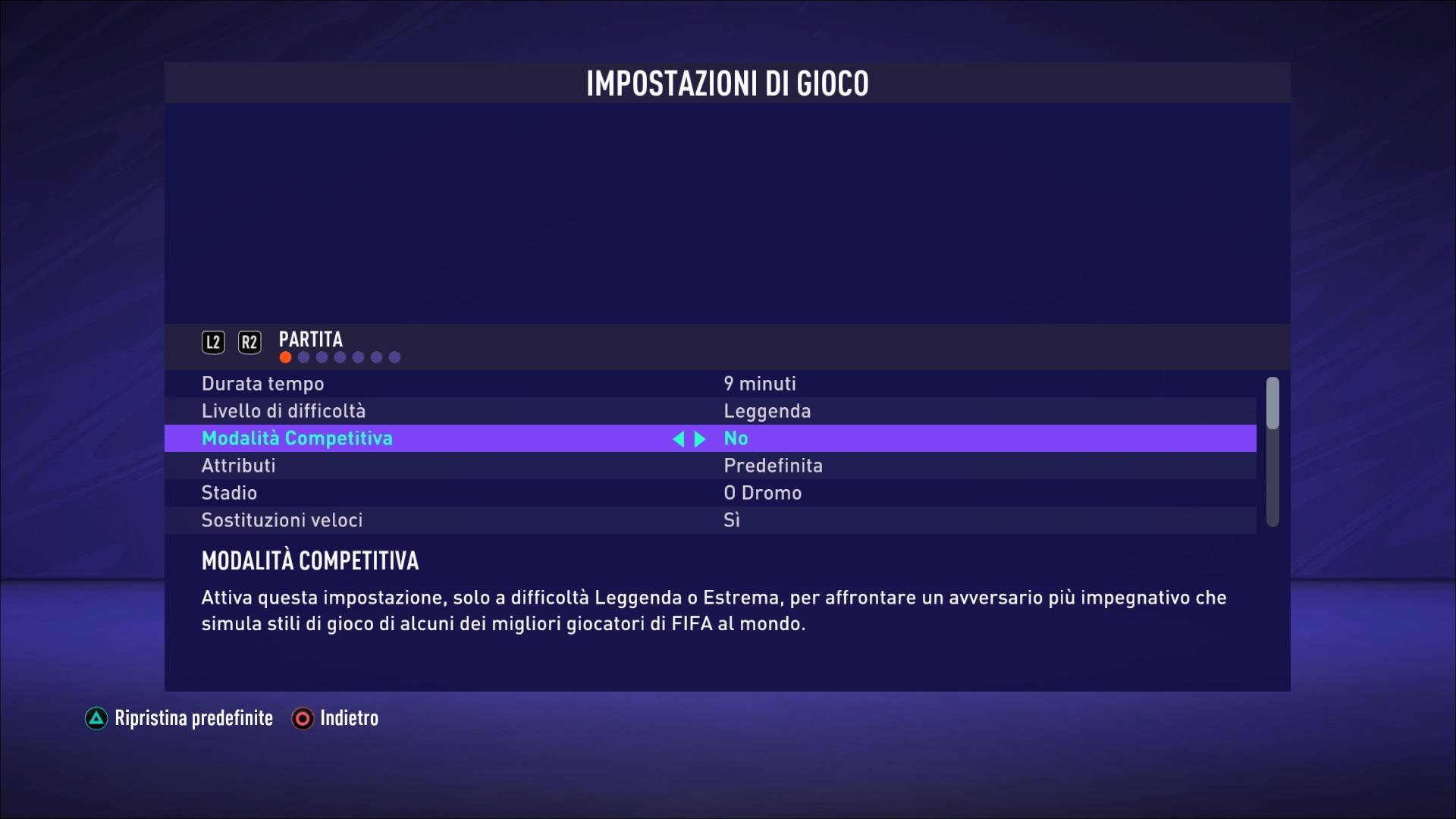 FIFA 21 Modalità competitiva