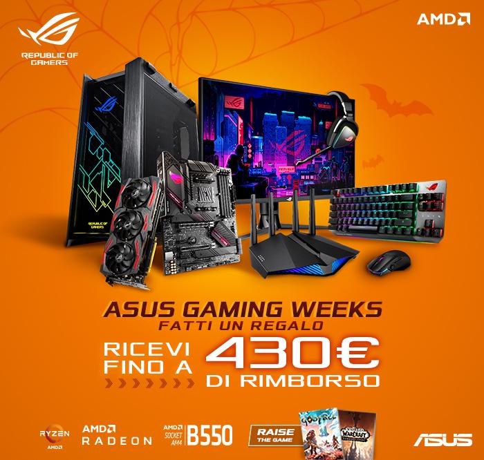L'Asus Gaming Weeks regala un rimborso di oltre 400 € sugli acquisti thumbnail