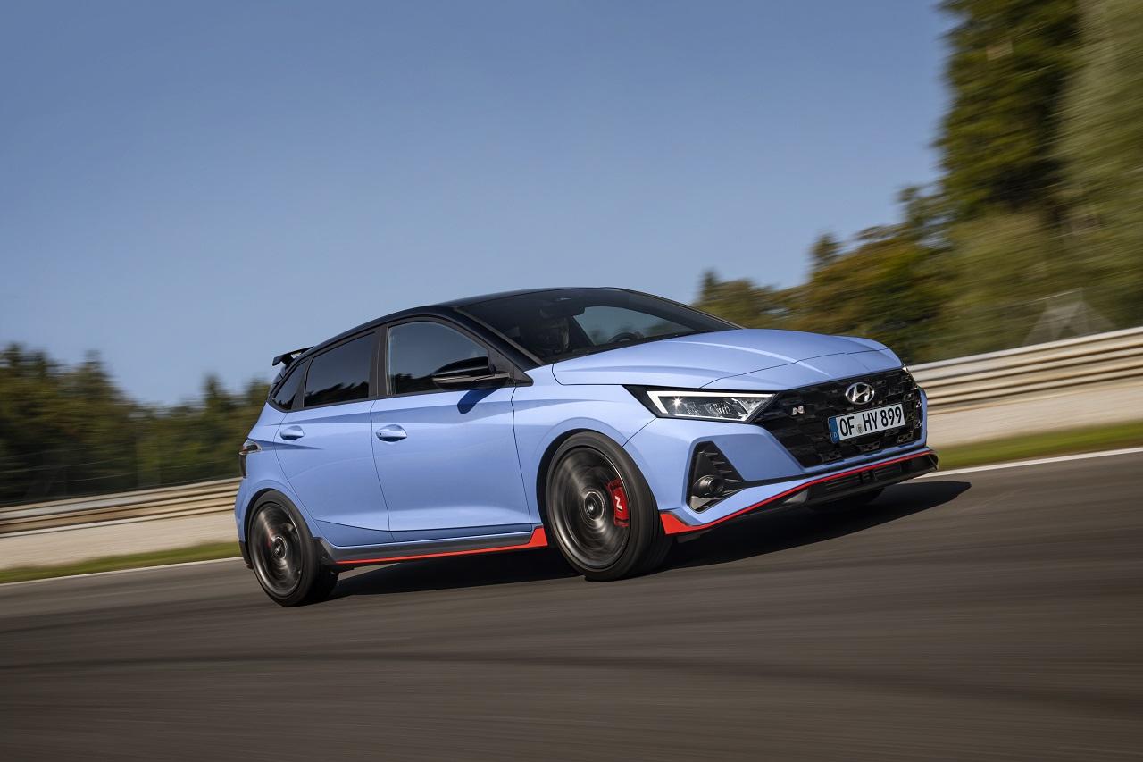 Hyundai i20 N 2021 dettagli rossi