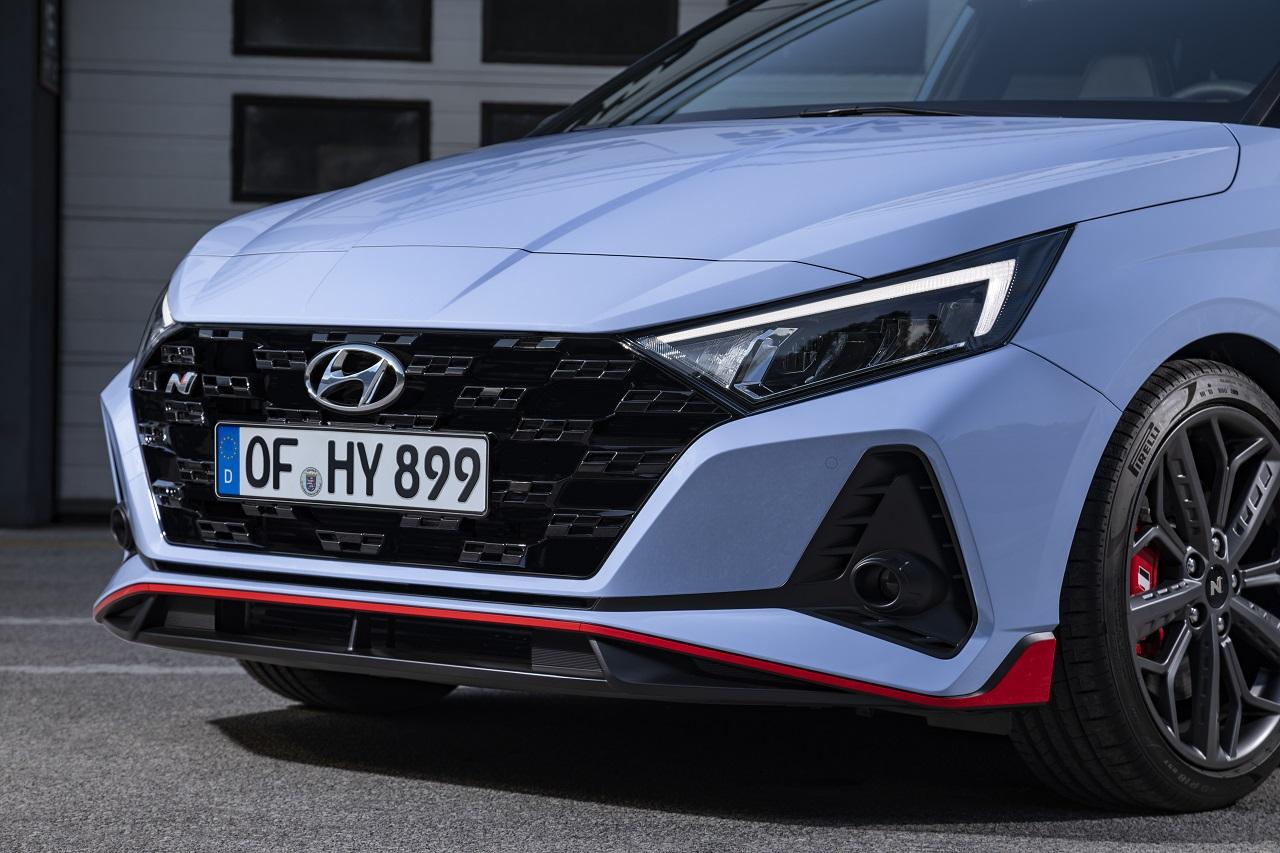 Hyundai i20 N 2021 frontale 3 quarti
