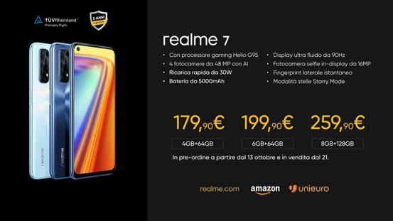 Realme 7 prezzo