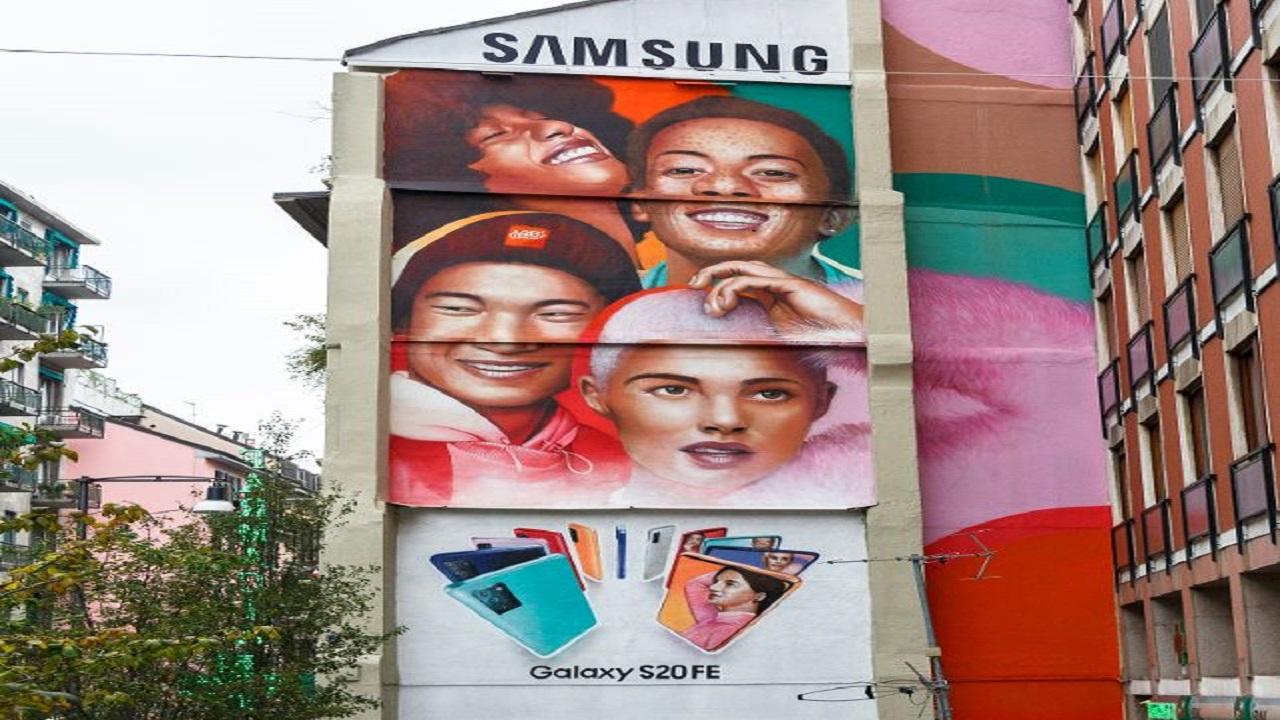 Samsung coniuga arte e pubblicità per colorare la città di Milano thumbnail