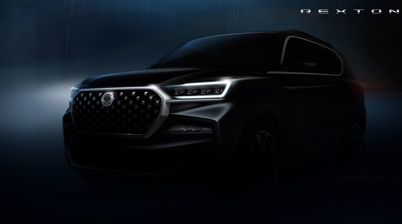 SsangYong Rexton: il SUV si mostra nelle prime immagini teaser ufficiali thumbnail