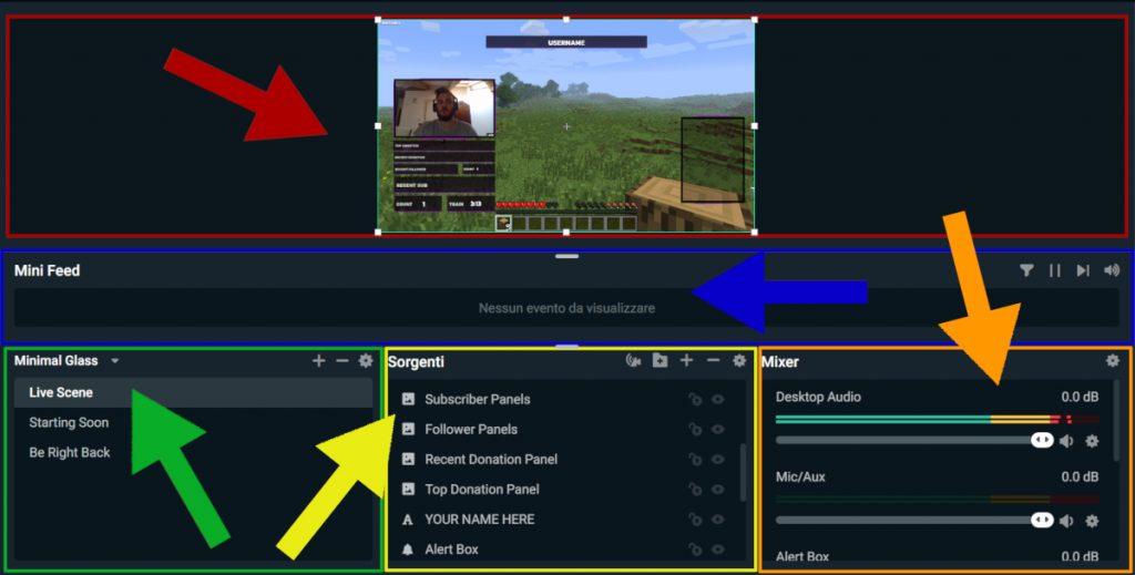 Streamlabs OBS schermata principale
