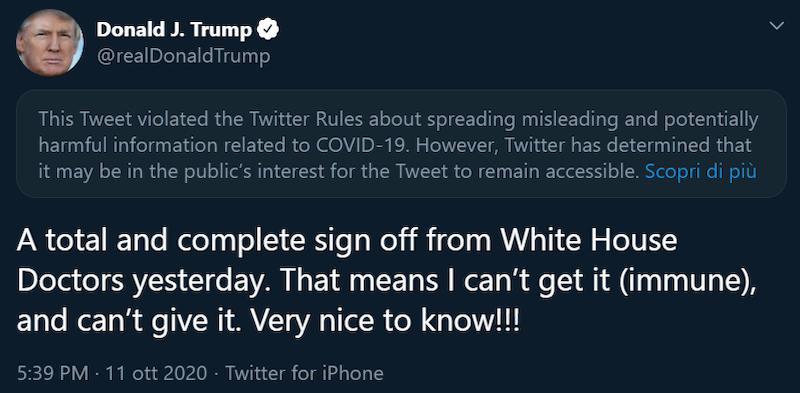 Twitter tweet Donald Trump