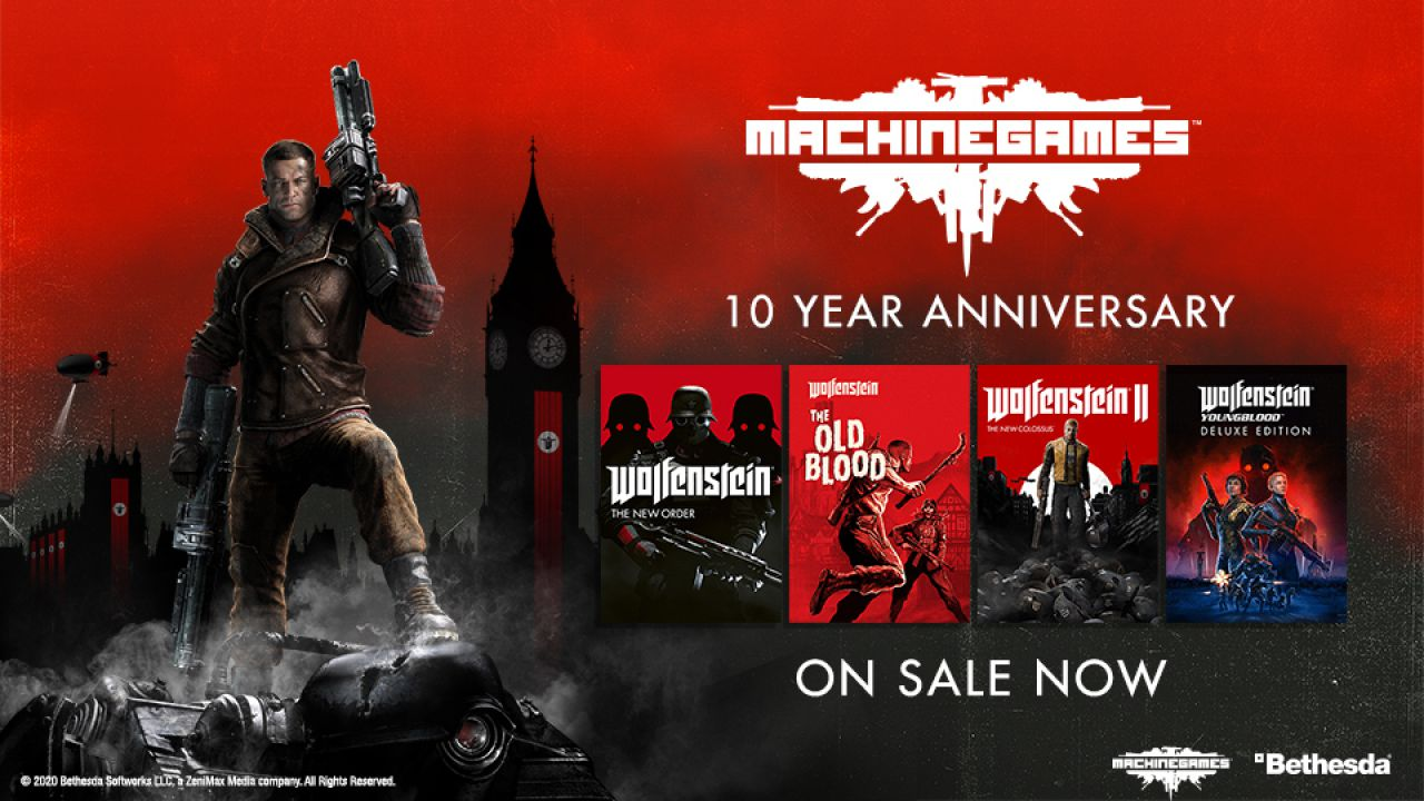 MachineGames festeggia il suo 10° anniversario, l'intero catalogo di Wolfenstein scontato thumbnail
