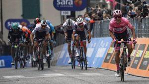 Il 5G di TIM sarà protagonista al Giro d'Italia  Domenica prossima nello stand TIM in Piazza Castello sarà possibile vivere la tappa finale a 360 gradi grazie ai servizi innovativi abilitati dal 5G