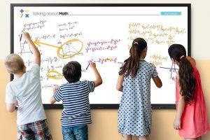 Il nuovo display interattivo di Samsung è una lavagna perfetta per la scuola  Il colosso coreano lancia una nuova lavagna pensata per la didattica mista a scuole