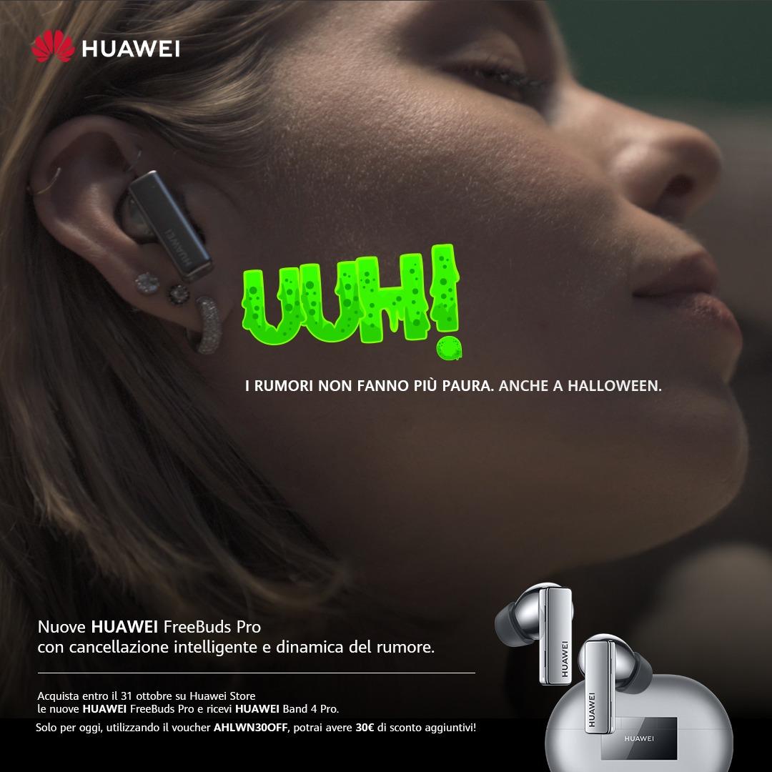 L'offerta di Halloween di Huawei FreeBuds Pro è da non perdere thumbnail