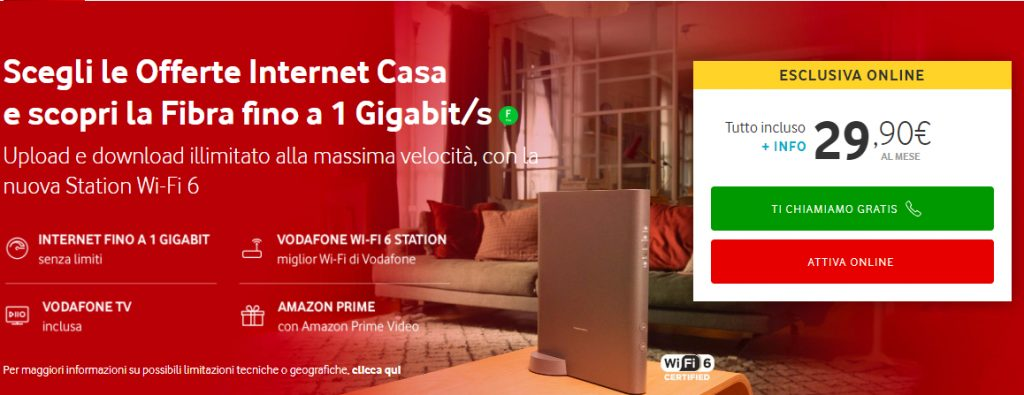offerte adsl fibra Vodafone