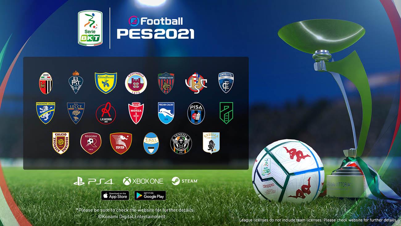 pes 2021 season update serie b