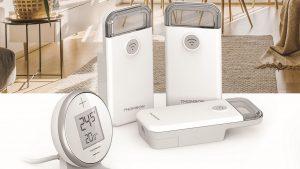 L'ecosistema ideale per una temperatura perfetta in casa  Thomson At Home: l'ecosistema connesso si rafforza per creare un comfort termico ottimale, con due termostati e una valvola termostatica wifi.