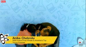 Una studentessa di 14  anni scopre una molecola che si lega al coronavirus  La texana Anika Chebrolu vince il 3M Young Scientist Challenge 2020 con un progetto davvero attuale