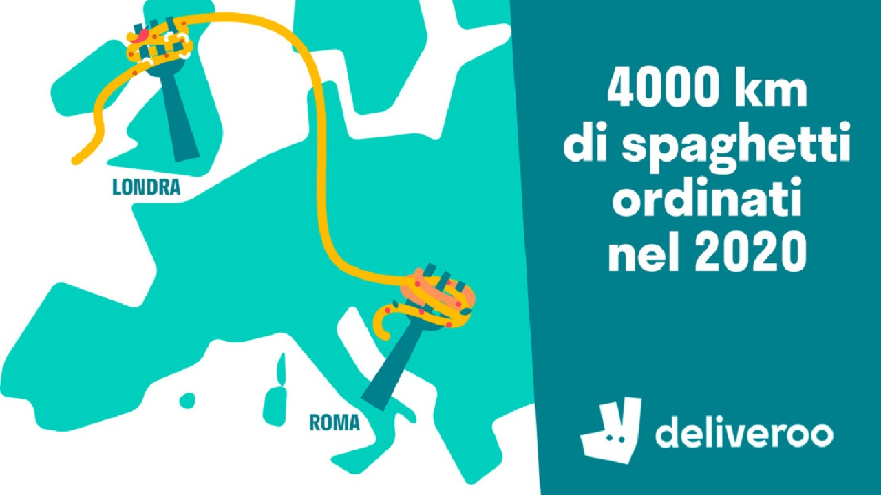 World Pasta Day: 4.000 km di spaghetti ordinati su Deliveroo thumbnail