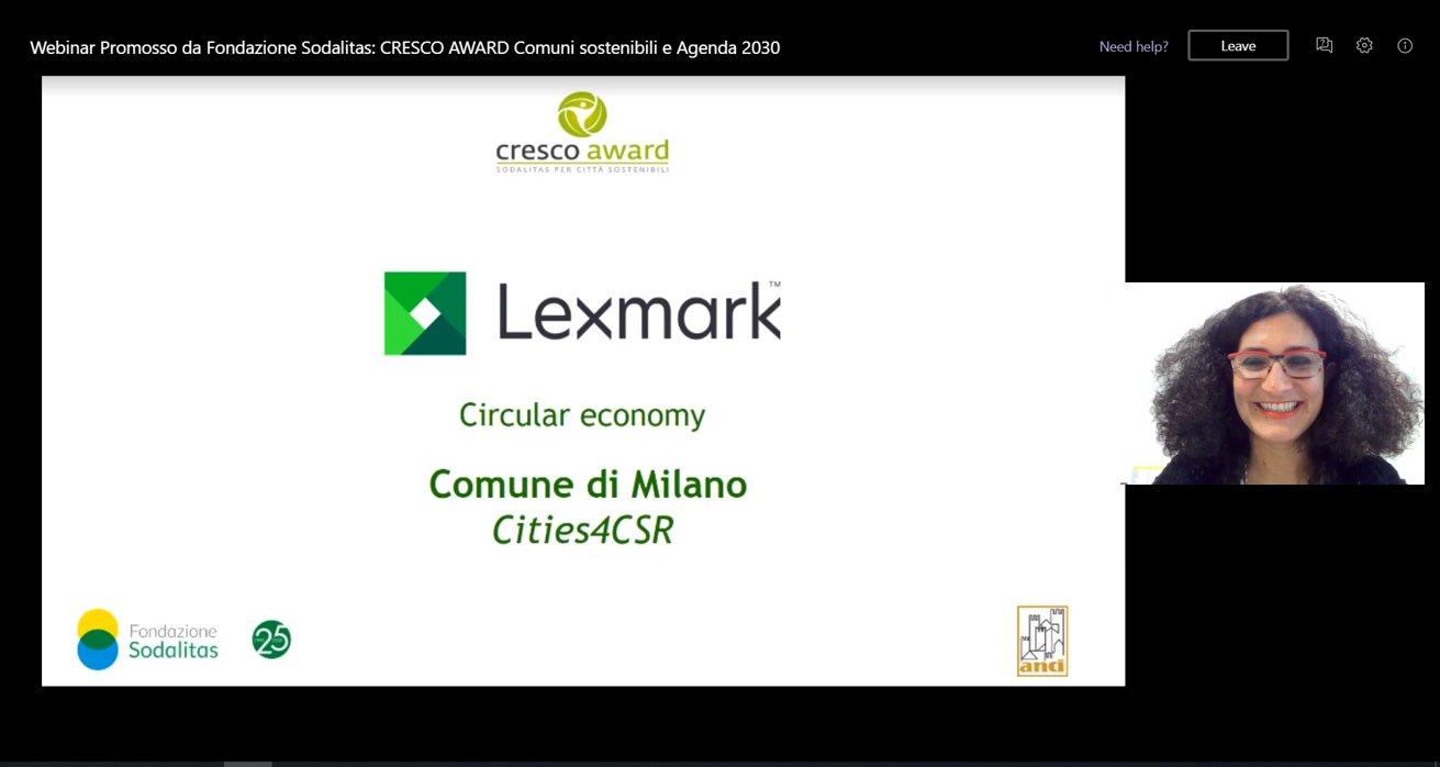 """Lexmark conferisce a Milano il premio """"Circular Economy"""" thumbnail"""