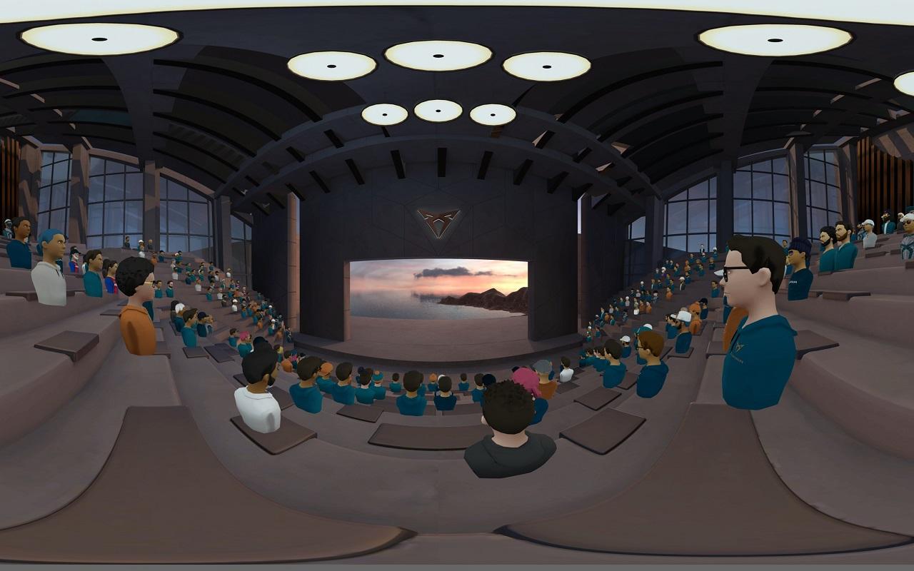Cupra e-garage auditorium