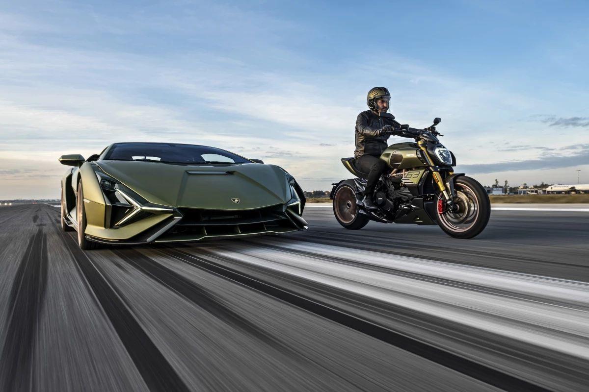 Ducati e Lamborghini si uniscono per un'edizione speciale della Diavel 1260 thumbnail
