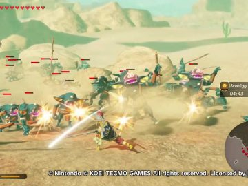 Hyrule Warriors L'era della calamità combattimento Link 2