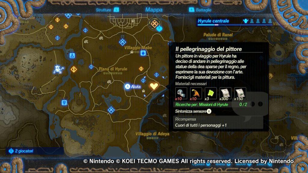 Hyrule Warriors L'era della calamità mappa