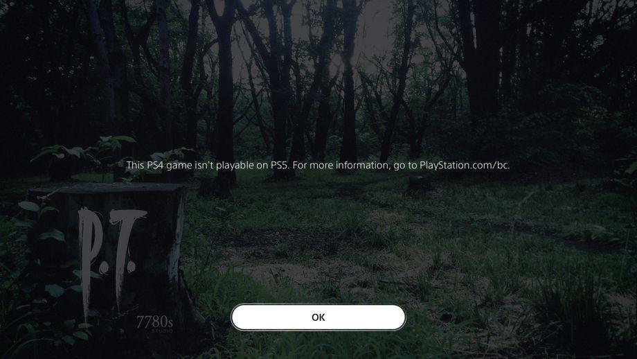 P.T. Silent Hills PS5