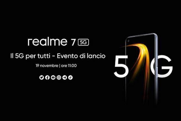 Realme 7 5G: l'evento di lancio è fissato per il 19 Novembre thumbnail