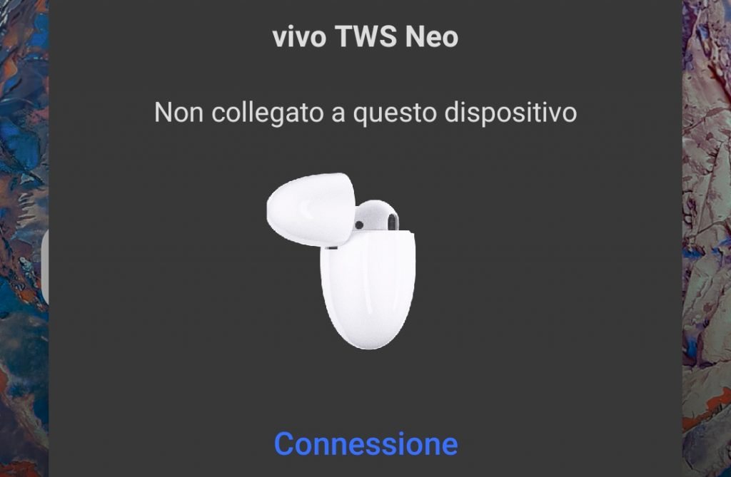 Recensione Vivo TWS Neo interfaccia