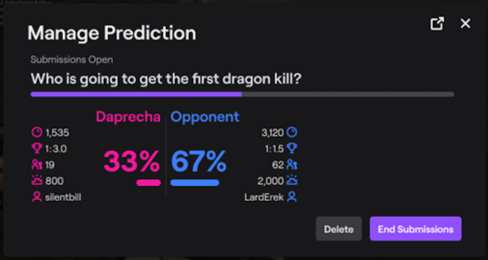 Twitch Channel Points Predictions
