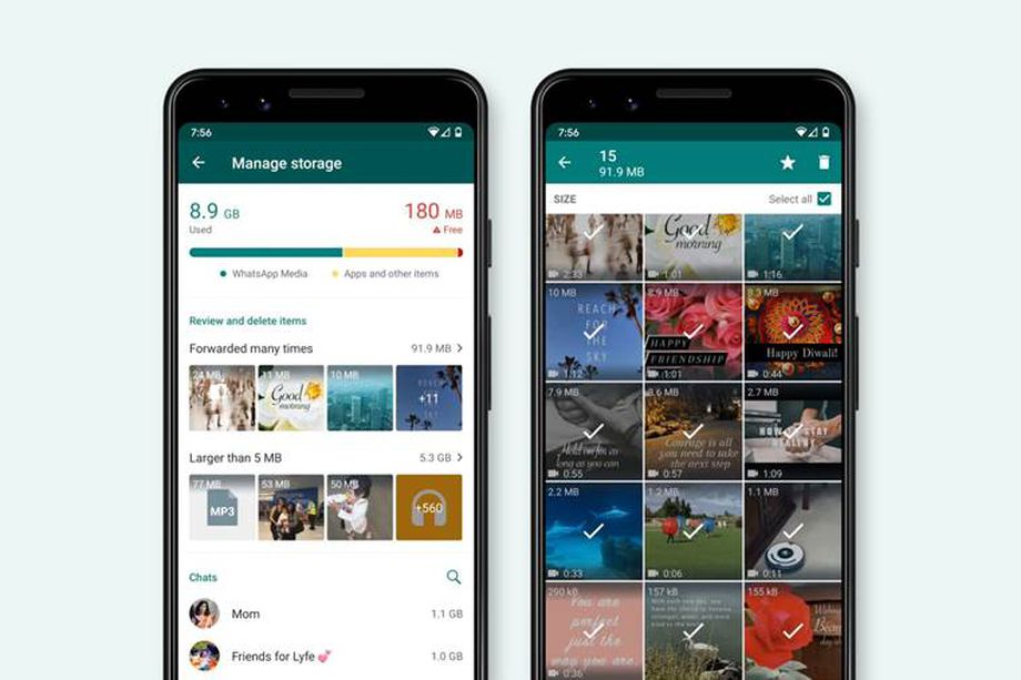 WhatsApp facilita la gestione della memoria con un nuovo tool thumbnail