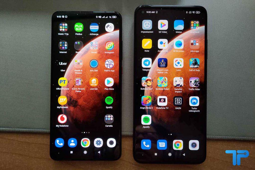 Xiaomi Mi 10T Pro vs Xiaomi Mi 9T Pro menu
