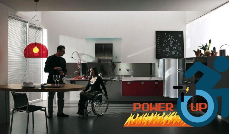 Funzionalità ed eleganza in una cucina pensata per disabili | Power-Up