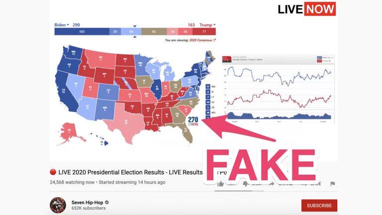 elezioni usa dirette youtube risultati falsi