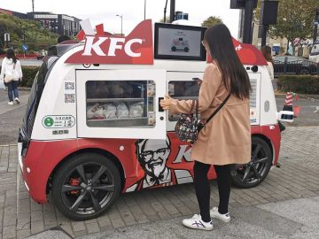 kfc delivery veicoli guida autonoma