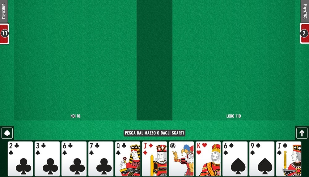spaghetti games giocare a carte online