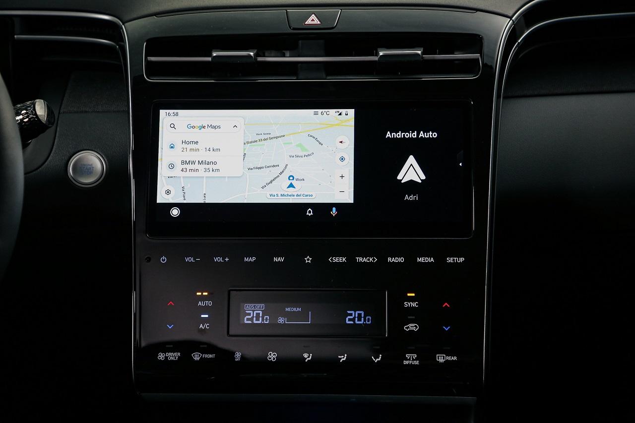 Hyundai Tucson 2021 schermo