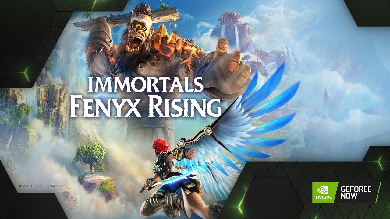 Immortals Fenyx Rising è uno degli otto titoli disponibili su GeForce NOW thumbnail