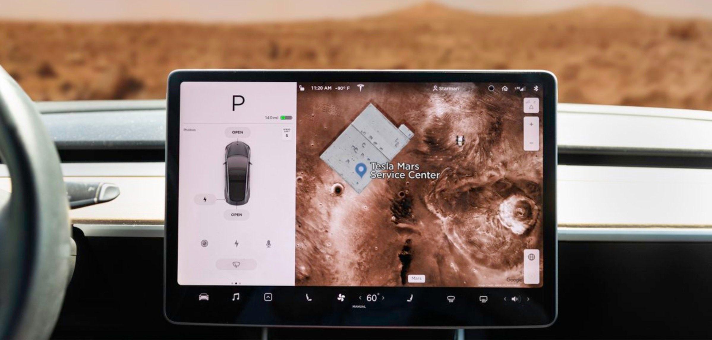 Tesla-Service-center-mars-mode