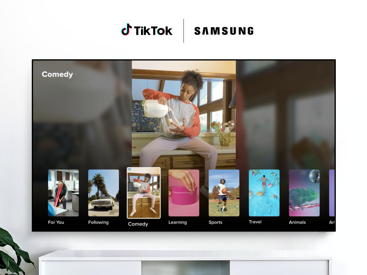 TikTok arriva sulle smart TV Samsung thumbnail