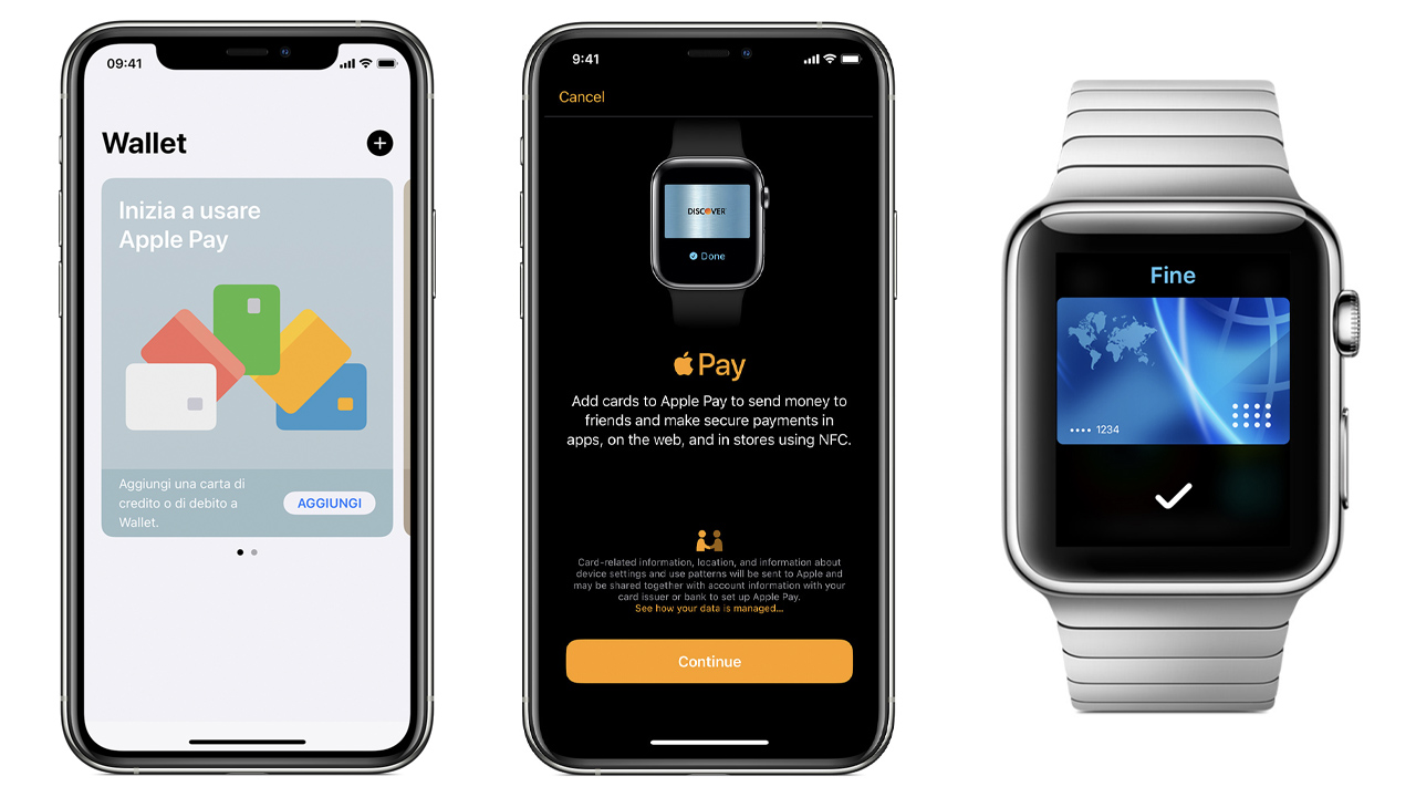 aggiungere carte apple pay