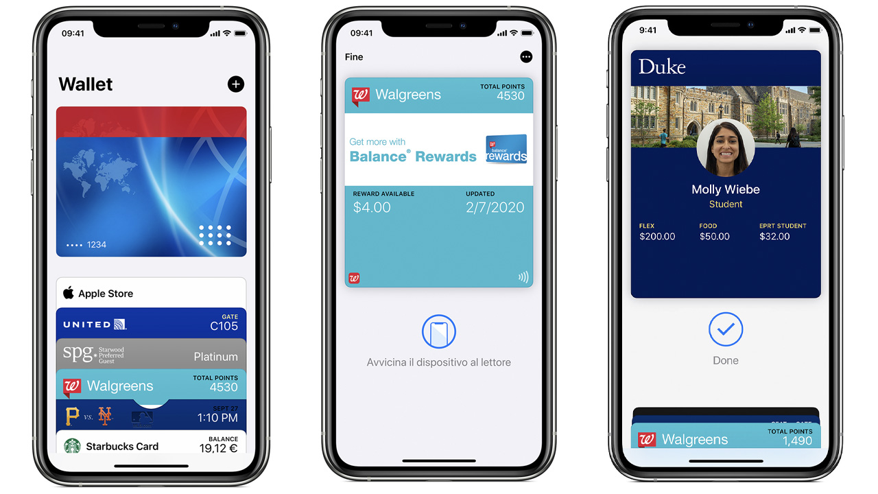 apple pay badge università biglietti cinema imbarco