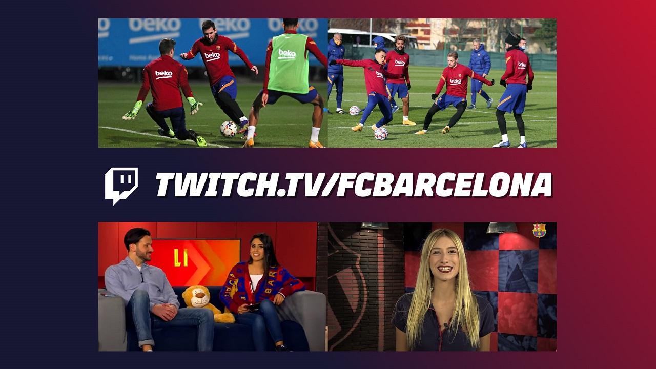 Il Barcellona apre il suo canale Twitch thumbnail
