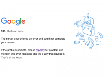 google down gmail youtube non funziona
