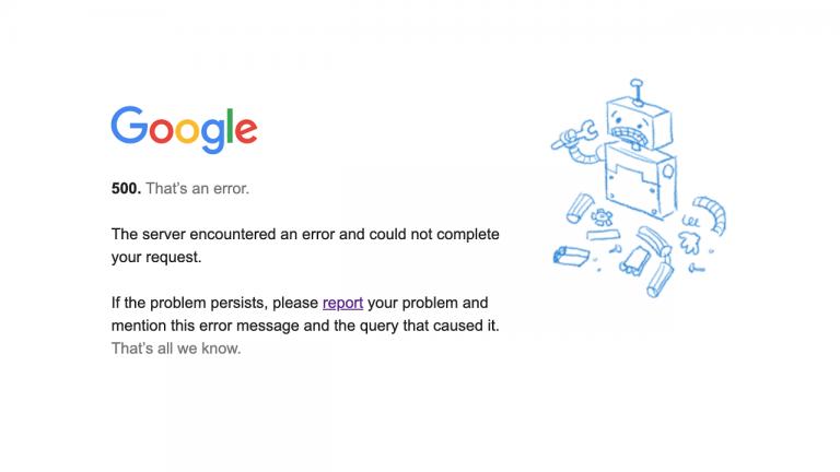 google down gmail youtube non funziona