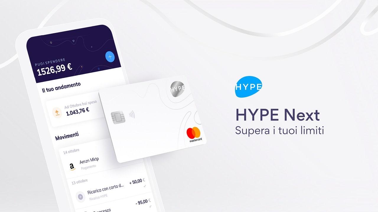 Hype lancia Next, conto a valore aggiunto senza vincoli di deposito thumbnail