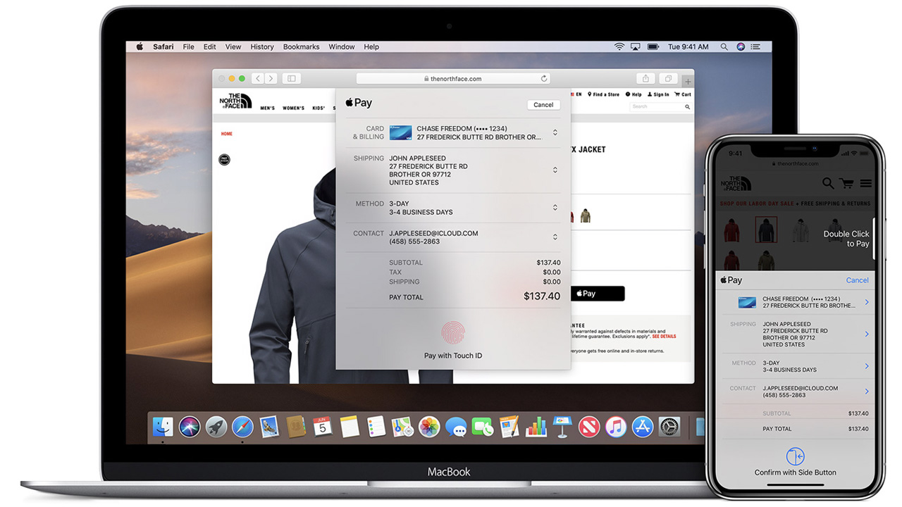 pagamenti online safari apple pay