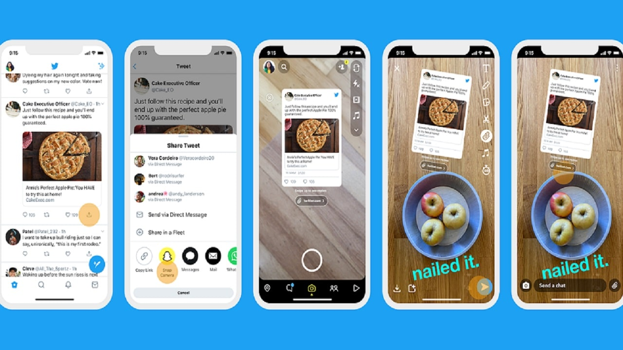 Da oggi potete condividere i tweet in diretta su Snapchat thumbnail