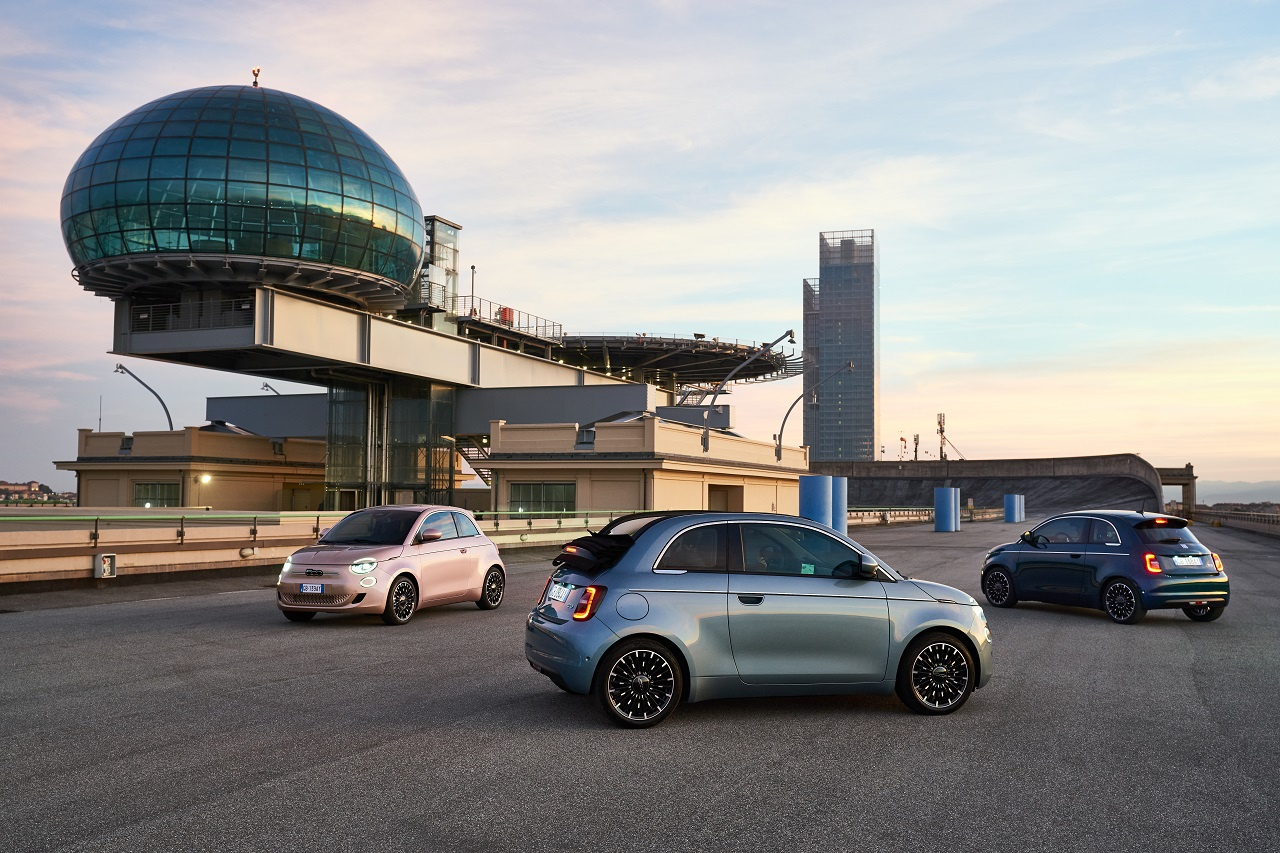 Leasys Go! a Torino: la gamma di FIAT 500e sul tetto del Lingotto