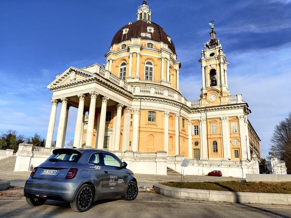 FIAT500e leasysgo a Superga